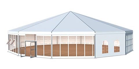12 Sided Polygon Tent 3d