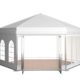 6 Sided Polygon Tent 3d