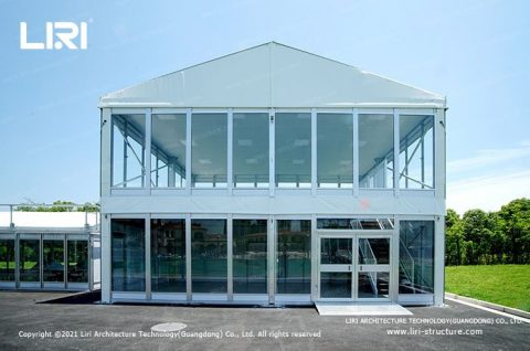 Double Decker Tent with A Frame Roof