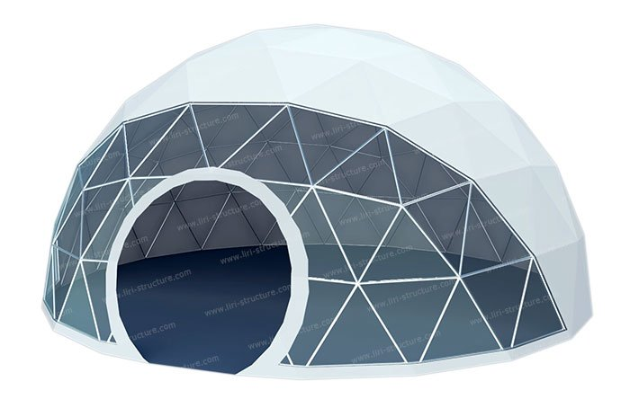 The Geodesic Dome Tent adopts special high-strength steel pipes which is under galvanized or paint processing and it can withstand the level of 11 wind ...  sc 1 st  Liri Tent Structure & Geodesic Dome Tent | Fabric Dome Structures for Sale - Liri Tent ...