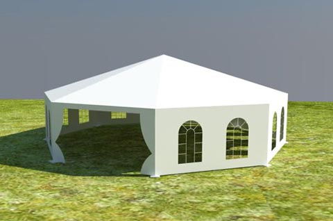 8 Sided Polygon Tent & Round Tent | Multi-side tents - Liri Tent Structure