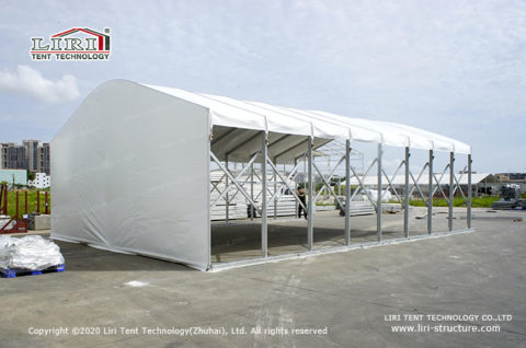 Retractable tunnels temporary buildings