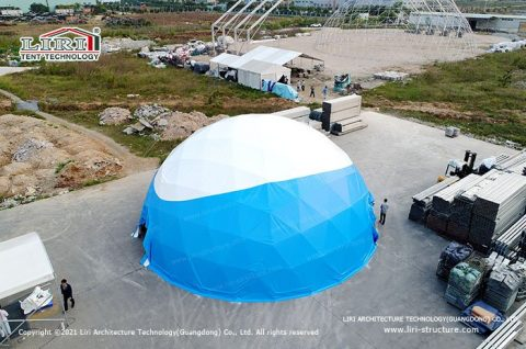 Steel Frame Outdoor Geodesic Dome Tent