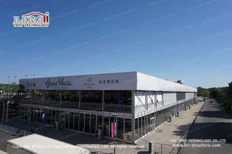 cube two story event tent