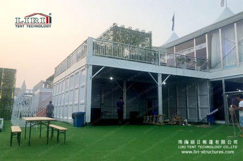double decker Tent Deck Structure