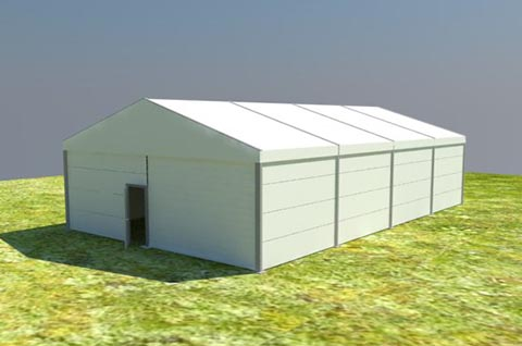 Humanitarian Storage Tents For Larger Bulk