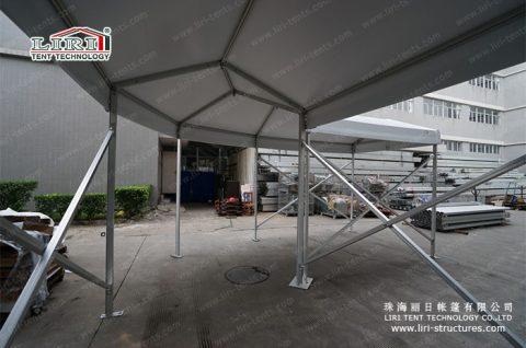 white Walkway Corner Tent