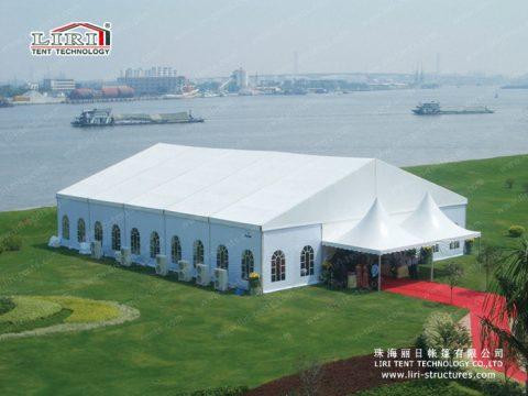 white big tent