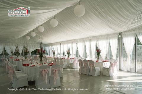 white tent wedding small