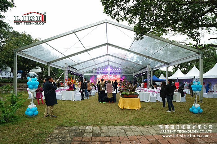 10 x 30 Transparent Wedding Marquee for Sale & 10 x 30 Outdoor Clear Wedding Marquee - Liri Tent Structure
