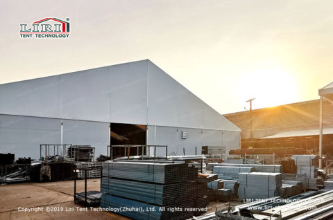 40x60m Warehouse Tent with Wall