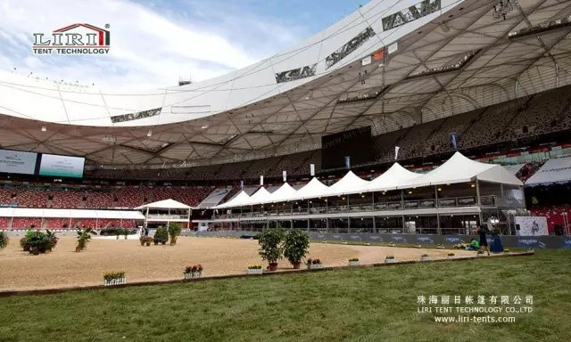 7000sqm Remarkable Sport Event Tent Installation Finished in 72h