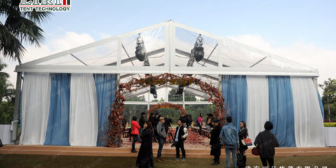 The mobile buildings—How's the charming of transparent event tents