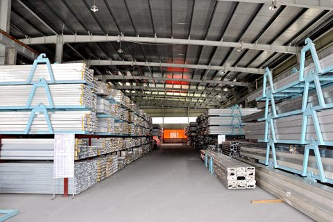Aluminum Materials Warehouse