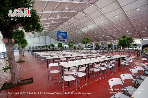 Catering tent for airshow