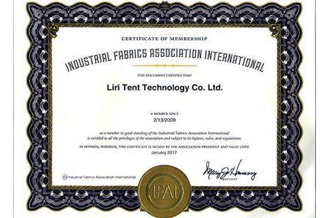 Certificate of IFAI Membership
