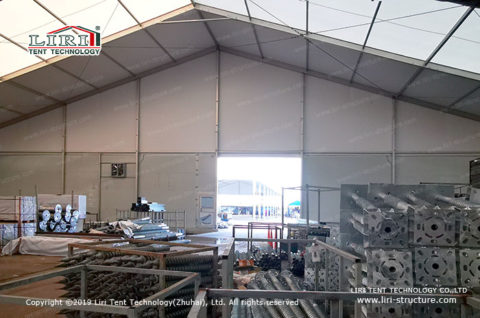 Clear Roof Warehouse Tent