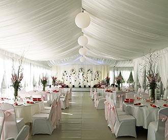 Outdoor Wedding Reception Tent