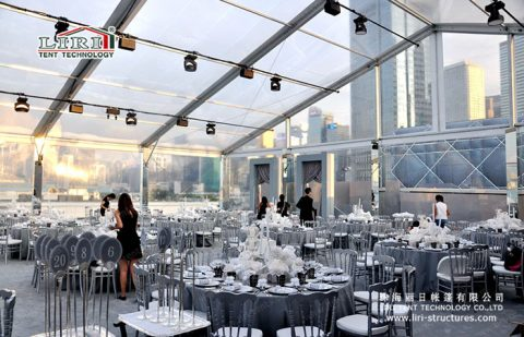 Transparent canopy party tent