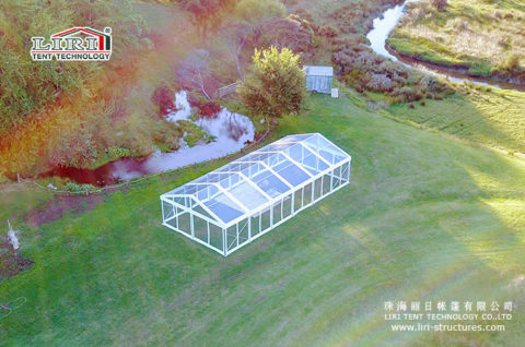 clear top frame wedding tent