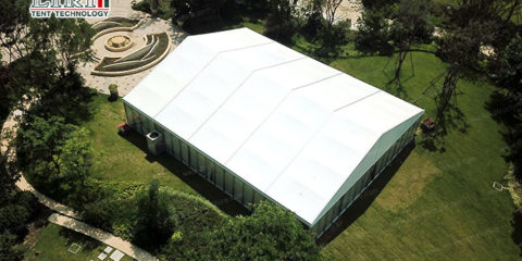 size and type of wedding tent