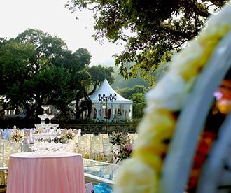 Wedding Tent with Beautiful Decorations