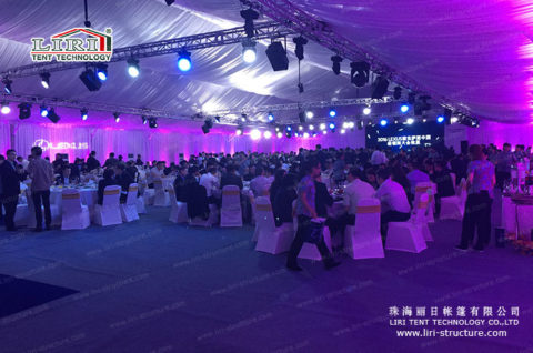 event tent for 600 people