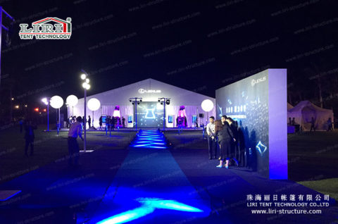 large white event tents