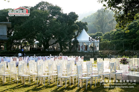 outdoor wedding tent decorations