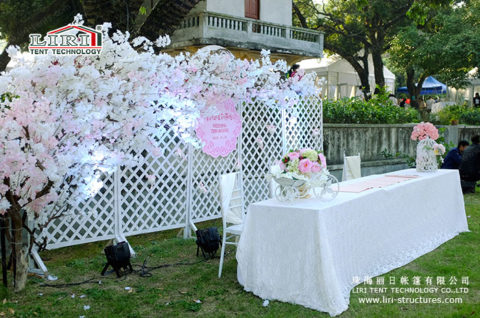 wedding marquee decorations