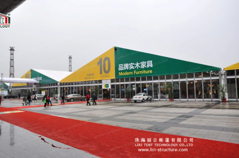 Custom Trade Show Tents with glass wall