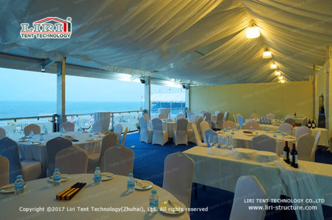 outdoor white marquee event tent