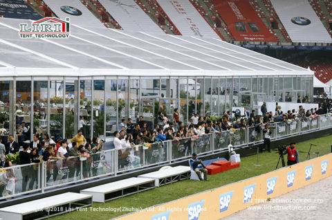 clear event tent for sports event