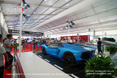 giant exhibition tent for car show