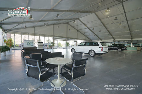 vehicle workshops tent interior