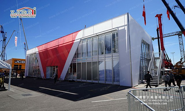 Two Storey Exhibition Tent with Glass Wal