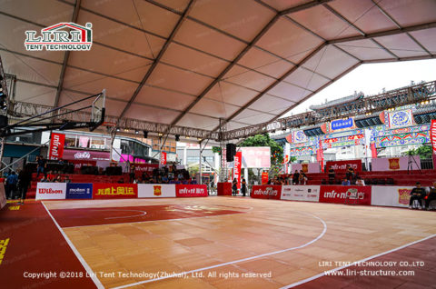 Temporary Basketball Venue introduce
