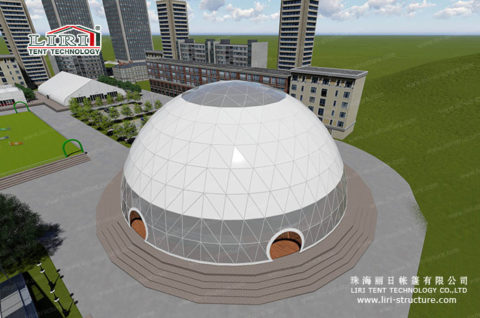 Sports Domes tent rendering