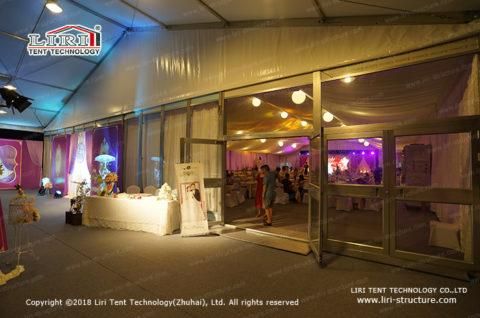 glass tent wedding