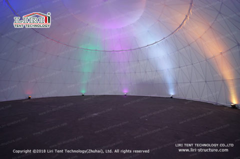 Metal Frame Dome Projection