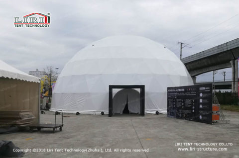 geodesic dome for projection mapping