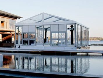 glass wedding marquee tent