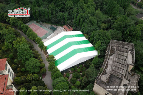 Outdoor tennis courts cover