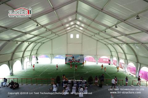 build an indoor football field