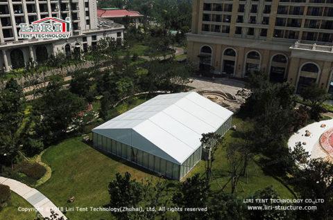 clear frame tent wedding