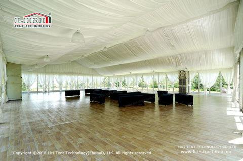frame tent for wedding reception