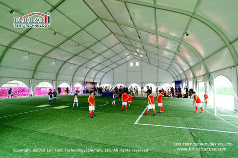 make a indoor football field