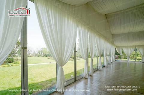 white tent frame for wedding