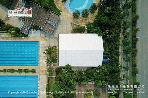Clear Span tent Made for Swimming Pool
