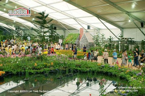 Flower Garden Show tent